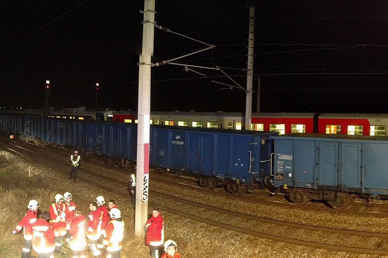 Zug-Zusammenstoß Gerasdorf