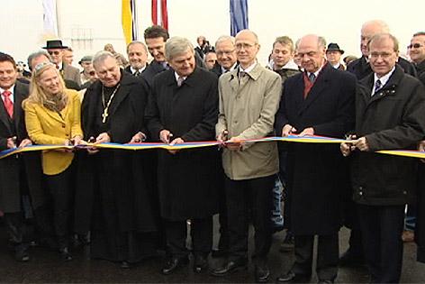 Eröffnung der Donaubrücke im Jahr 2010