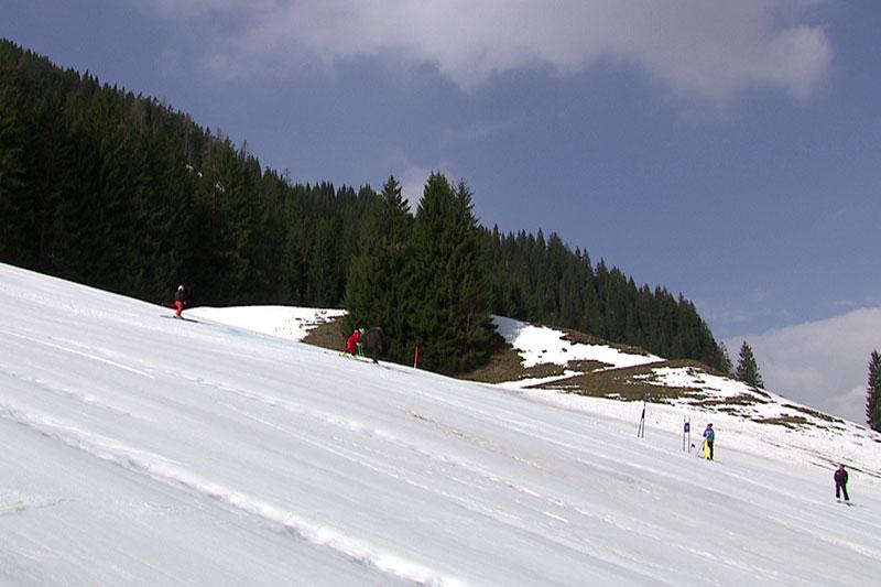 Piste für die Alpine Skimeisterschaft in Saalbach