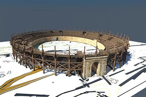 Neu entdecktes Amphitheater