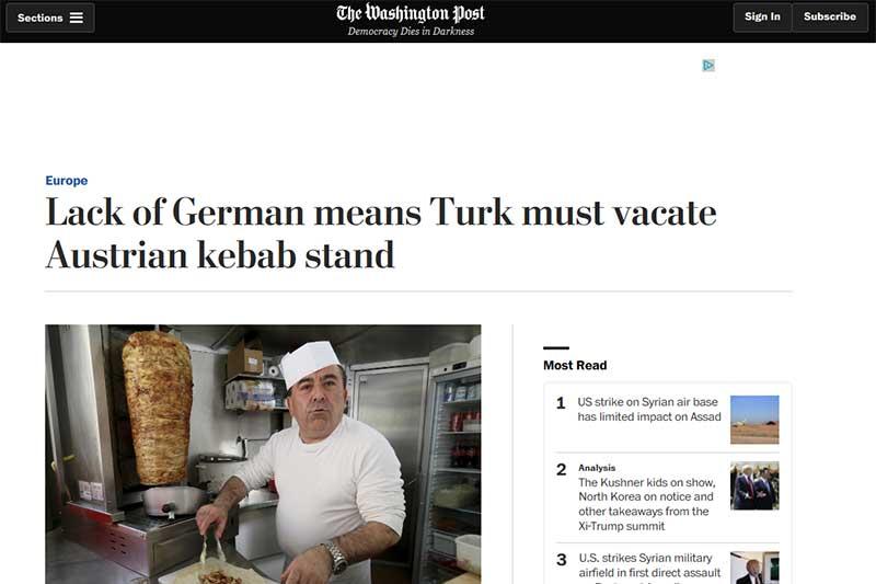 """Screenshot """"Washington Post"""""""