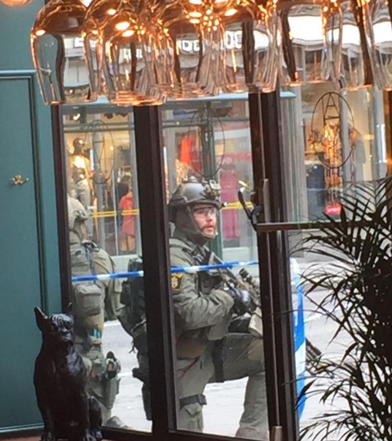 Bild vom Einsatz nach dem Anschlag in Stockholm