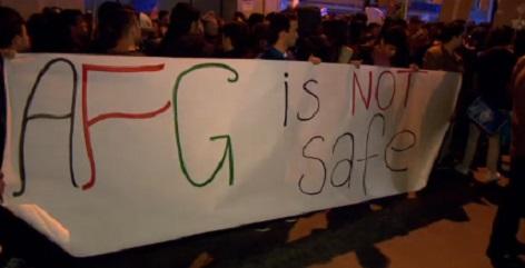 Demonstration gegen die Abschiebung von Afghanen