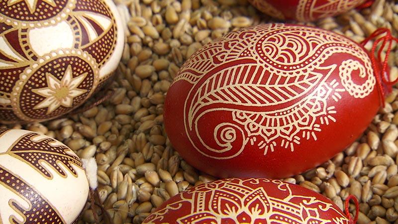 SSC Eiermalen Eierkratzen Batik
