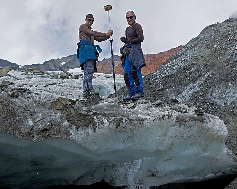 Gletscherknechte bei der Arbeit