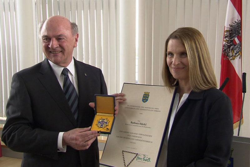 Verleihung Ehrung Niederösterreich Barbara Stöckl