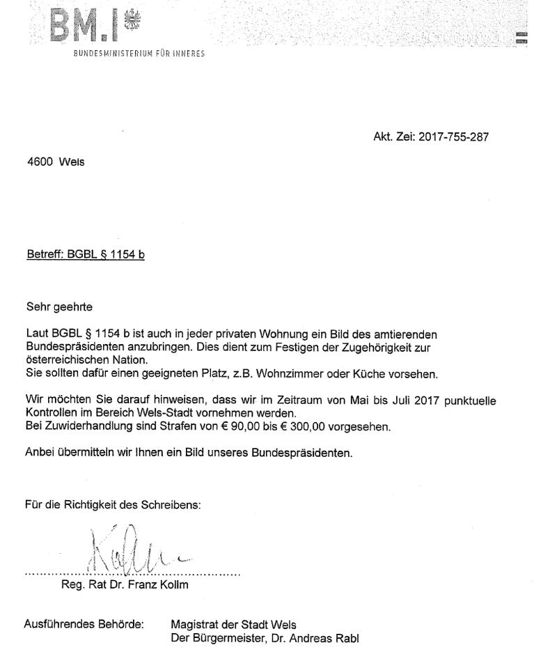 Gefälschter Brief