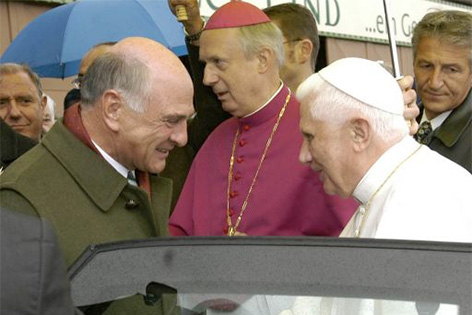 Erwin Pröll und Papst Benedikt