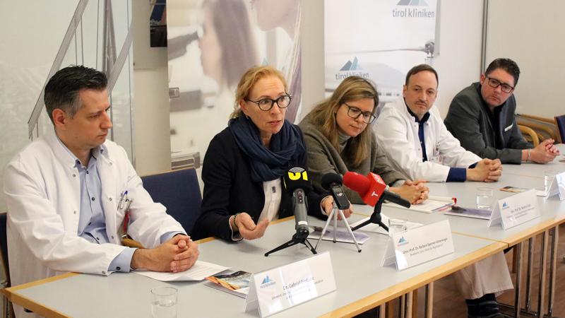 Gabriel Djedovic, Barbara Sperner-Unterweger, Bettina Toth, Markus Rungger und Martin Fuchs