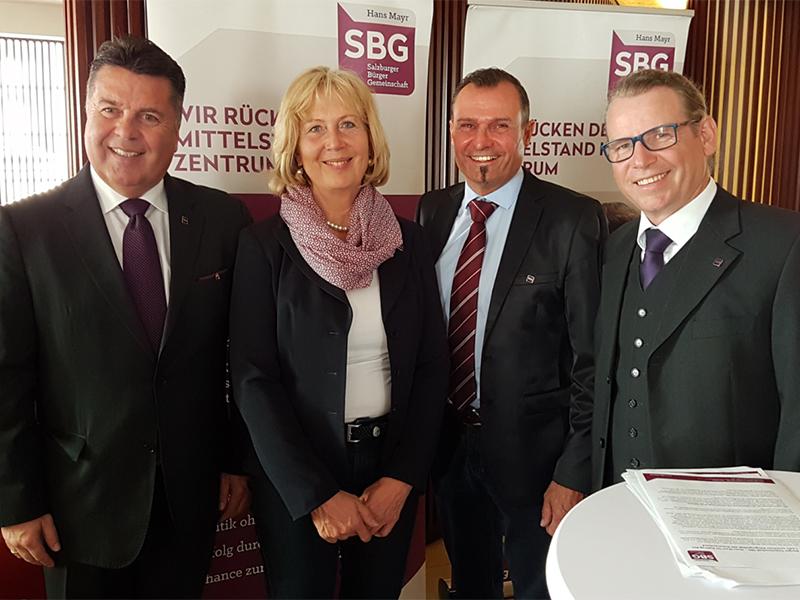 Pressekonferenz der Salzburger Bürgergemeinschaft