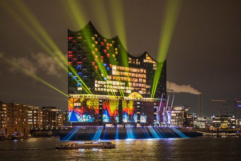 Die Hamburger Elbphilharmonie bei der Eröffnungsfeier