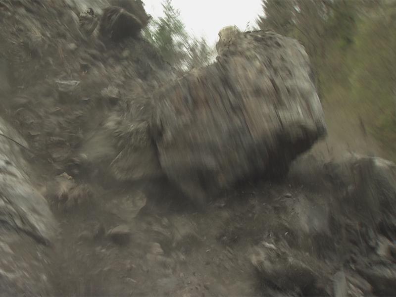 Aufräumarbeiten nach Felssturz