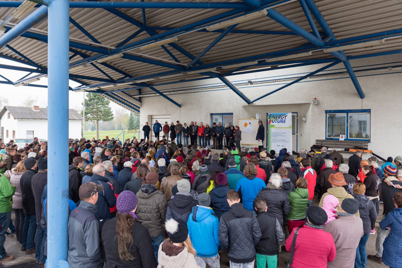 Kundgebung Grenzübergang Grametten Atommüll Endlager Tschechien