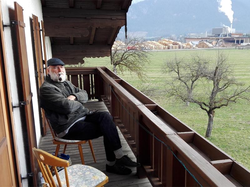Stan Vanuytrecht, neuer Eremit in der Einsiedelei am Palfen