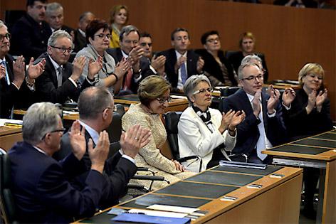 Johanna Mikl-Leitner im Landtagssitzungssaal