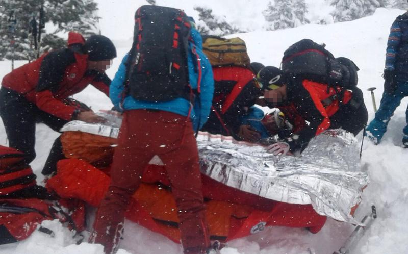 Bergretter bergen Verletzten