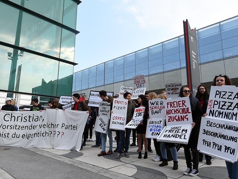 Protest Kern SPÖ