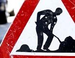 Verkehrszeichen Achtung Baustelle
