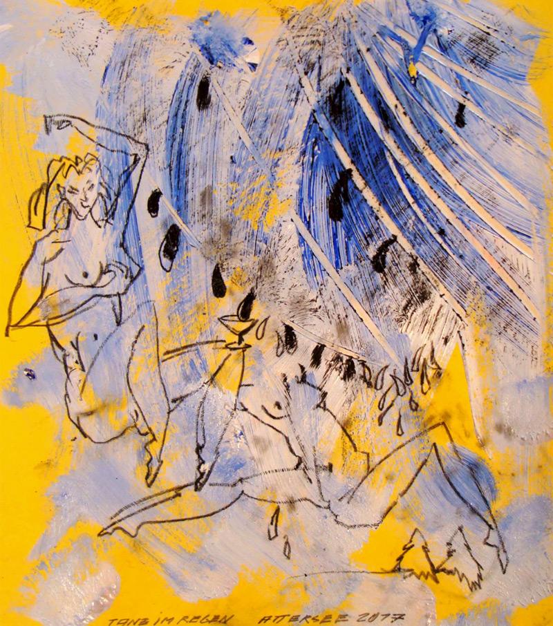 """Tanz im Regen"", Christian Ludwig Attersee"