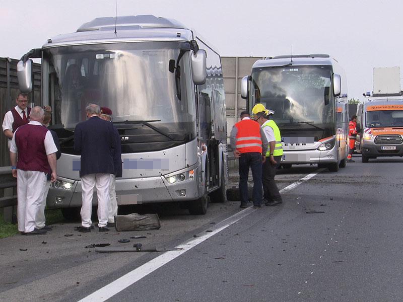Reisebus Unfall Westautobahn Völlerndorf