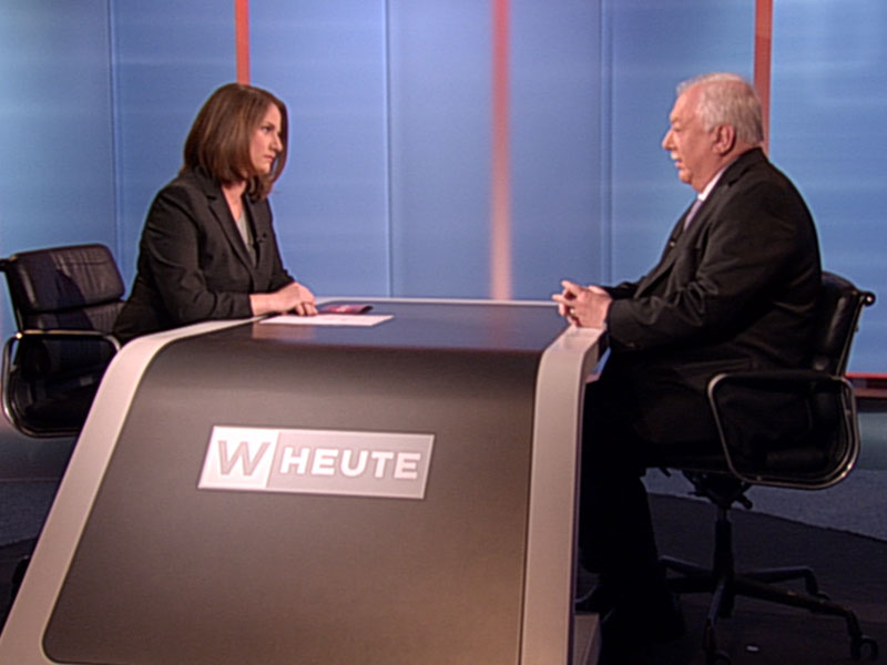 "Bürgermeister Michael Häupl (SPÖ) im ""Wien Heute""-Studiogespräch"