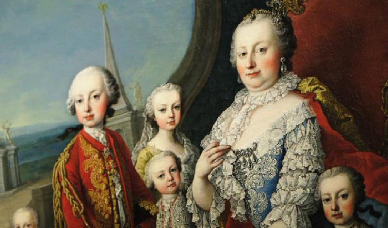 Maria Theresia mit einigen ihrer insgesamt 16 Kinder