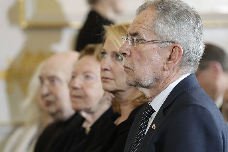 Bundespräsident Alexander Van der Bellen und Nationalratspräsidentin Doris Bures