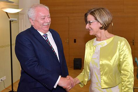 Landeshauptfrau Johanna Mikl-Leitner und Bürgermeister Michael Häupl in Wien