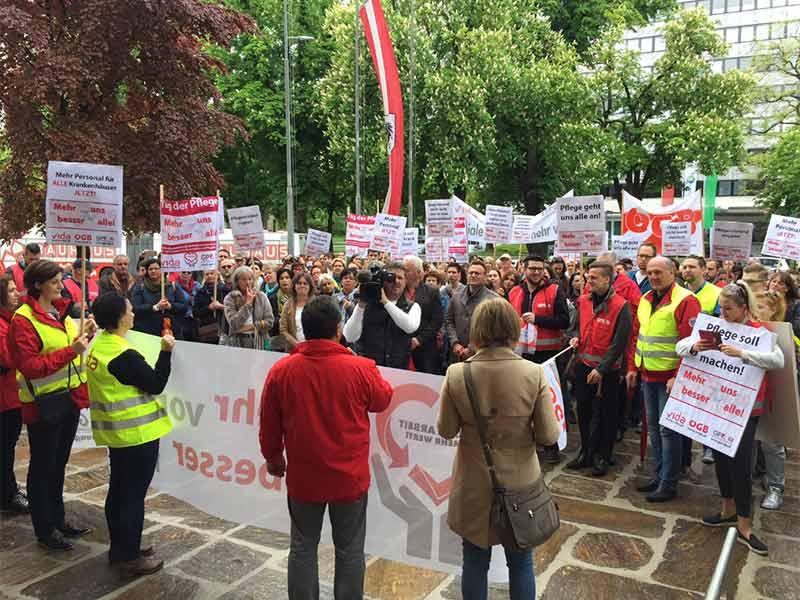 Pflegekräfte Demo Protest