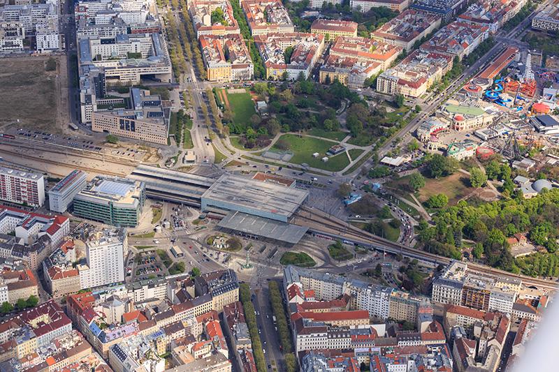 Luftaufnahme Praterstern