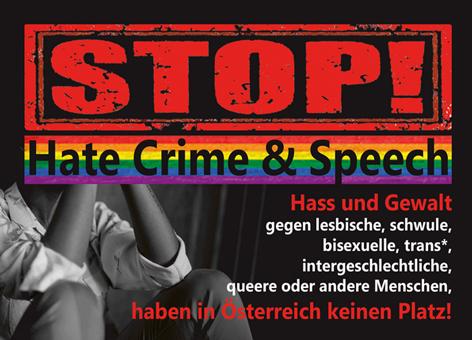 Flyer Stopp Hate Crime & Speech