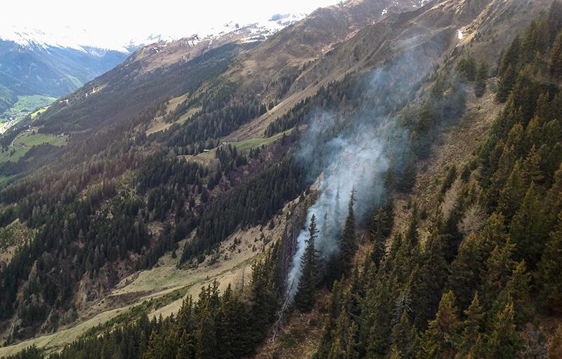 Waldbrand in St Veit im Defereggen