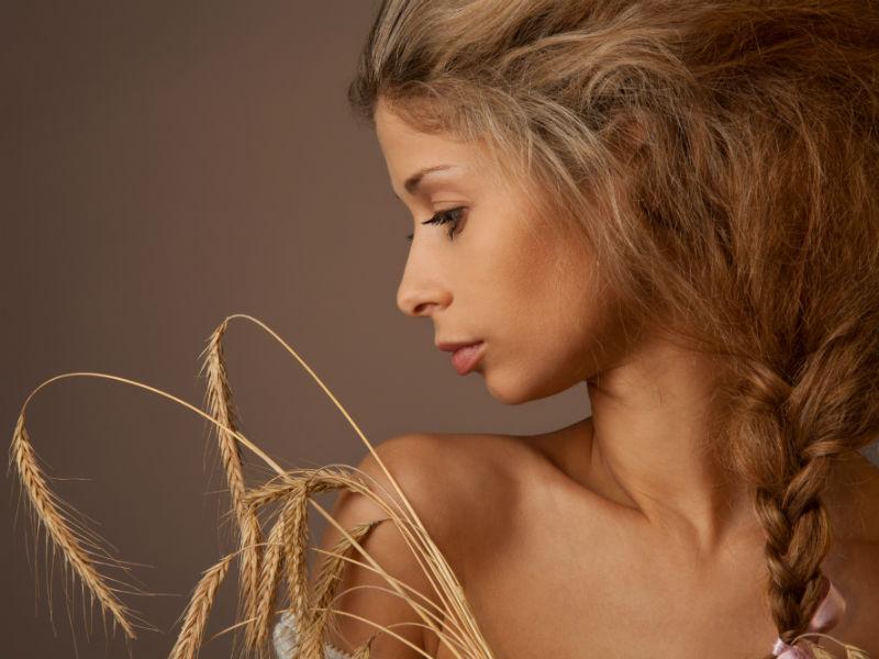 Frau Haar Weizen