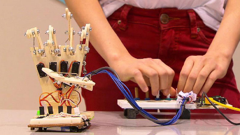 Roboterhand / Jugend forscht