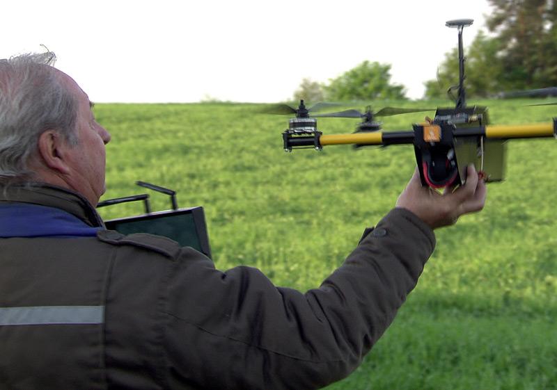 Drohnen zur Rettung von Rehkitzen