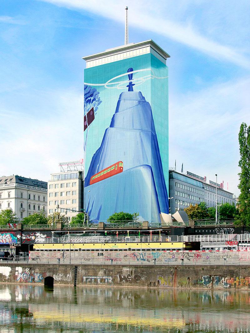 Visualisierung des Kunstwerks von Mihael Milunovic