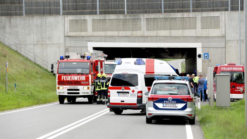 Gegen Tunnelportal gekracht Hargelsberg