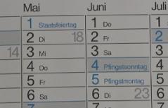 Slowakei pfingsten feiertage Wann ist