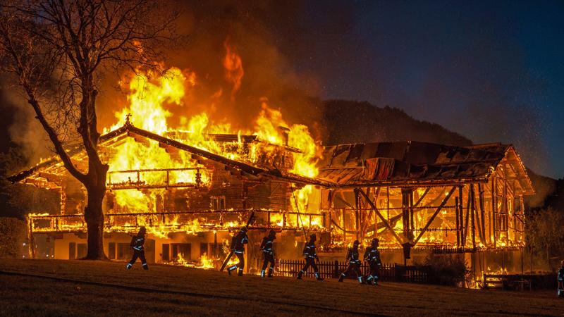 Bauernhausbrand Jochberg