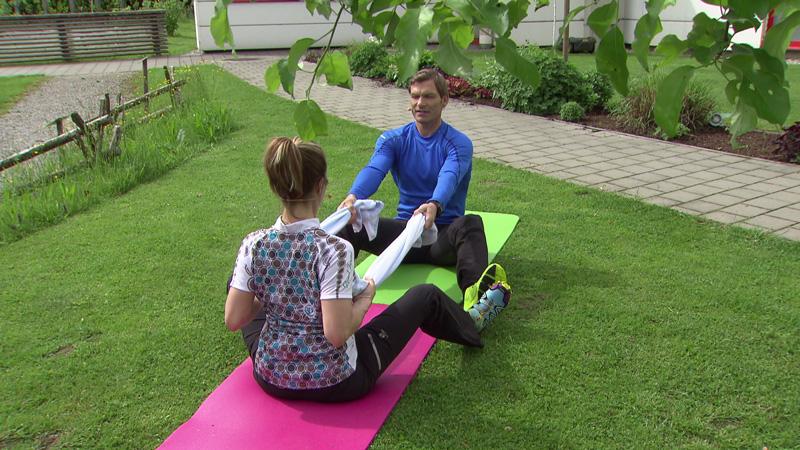 Doresia Krings und Michael Mayrhofer - Partnerübung im Fernsehgarten