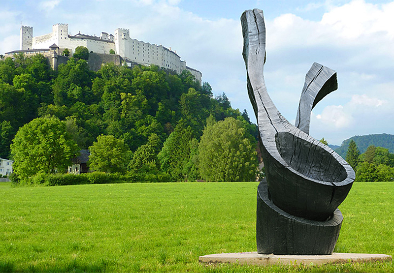 Salzburg Foundation Krauthügel David Nash Skulpturen