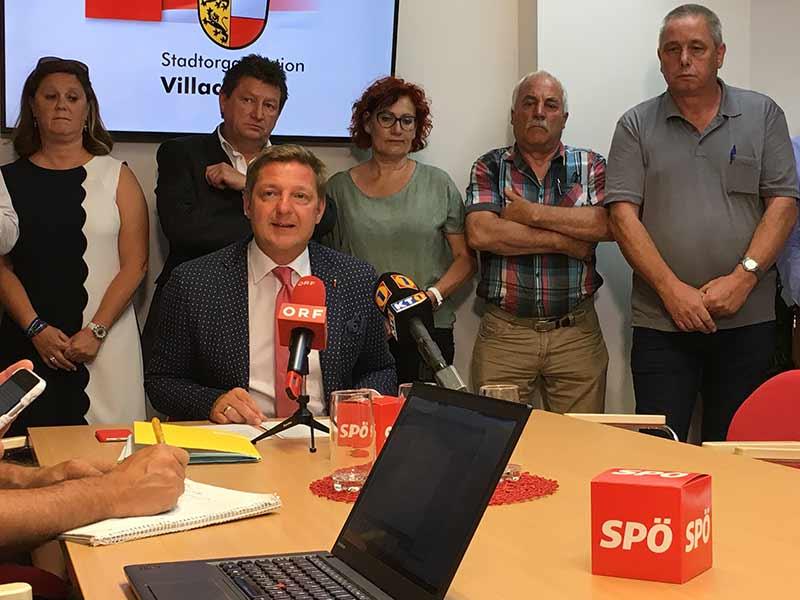 Sondersitzung Gemeinderat Villach SPÖ Ausschluss Pfeiler