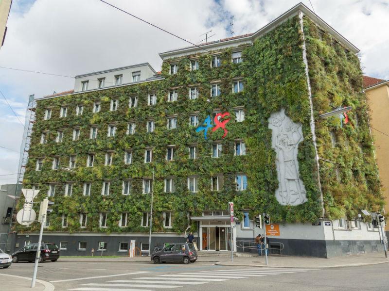 vertical garden Fassaden Begrünung Hängegarten MA48
