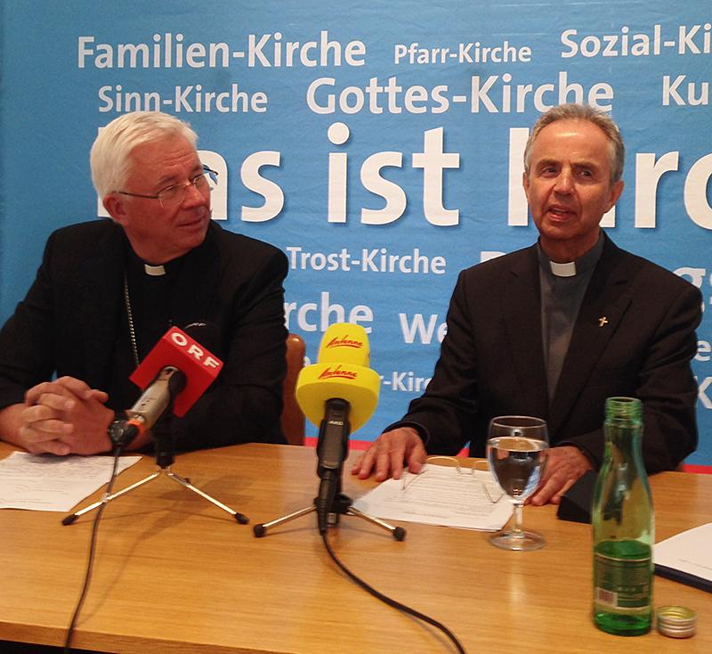 Franz Lackner und Hansjörg Hofer Erzbischof und Weihbischof