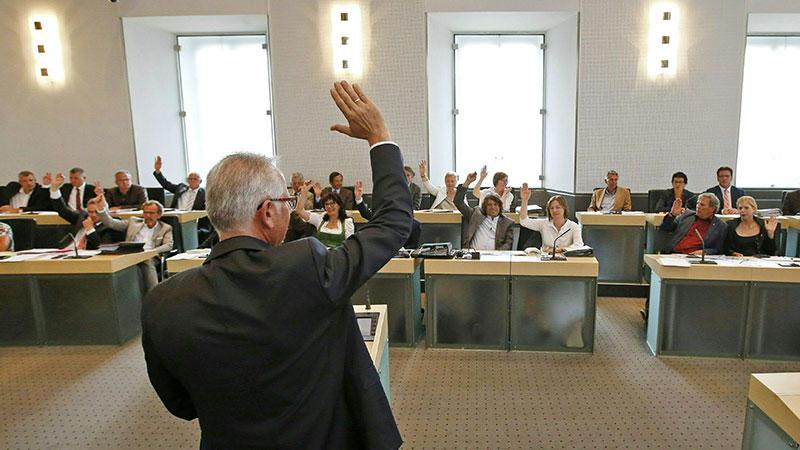 Abstimmung Landtag