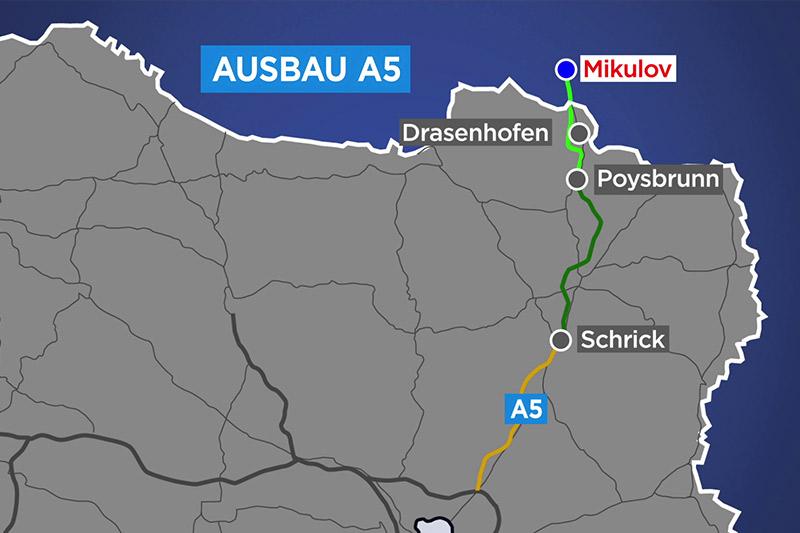 Grafik Ausbau A5 Nordautobahn