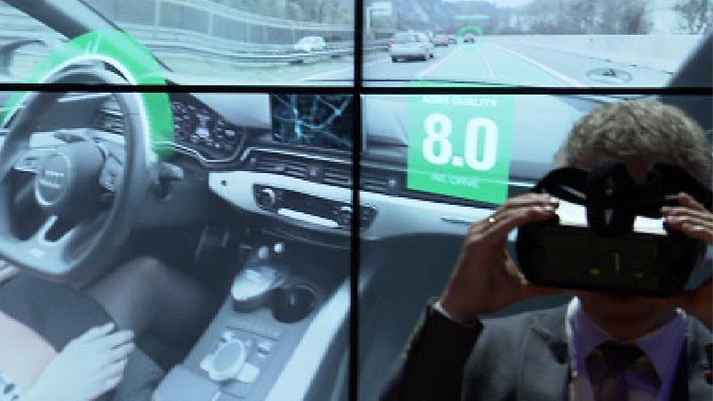 Brille für Autonomes Fahren, virtuell, AVL, List