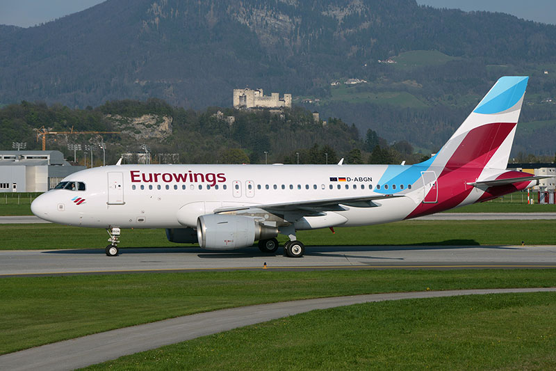 Eurowings Airbus am Salzburger Flughafen