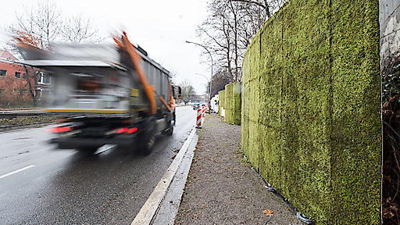 Moos Mooswand Stuttgart Verkehr LKW