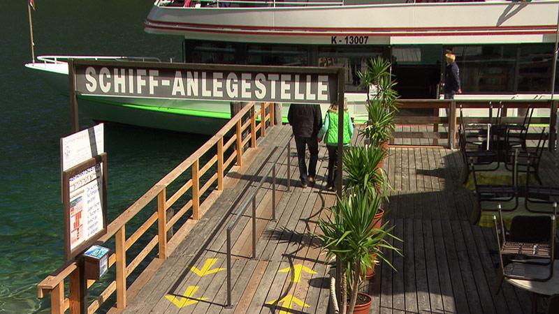 Anlegesteg Weißensee Schifffahrt